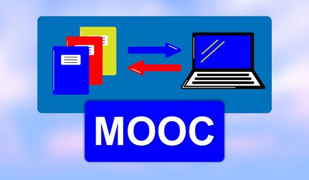 Illustration of a mooc concept