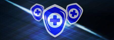 Illustration of a health protection concept 版權商用圖片