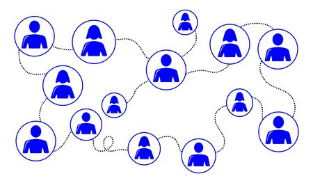 Illustration of a social network concept
