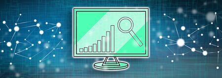 Illustration of a market analysis concept Stock fotó