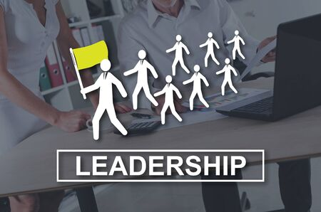 Leadership concept illustrated by a picture on background