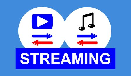 Illustration of a streaming concept Stok Fotoğraf