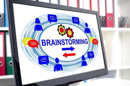 Brainstorming concept shown on a computer screen