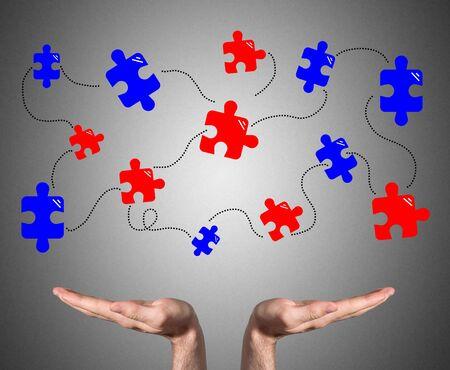 Open hands sustaining teamwork concept