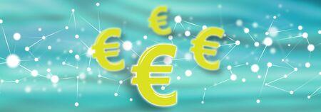 Illustration of an euro concept Фото со стока