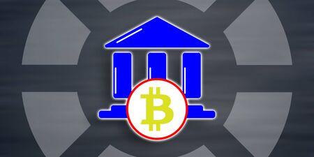 Illustration of a bitcoin regulation concept