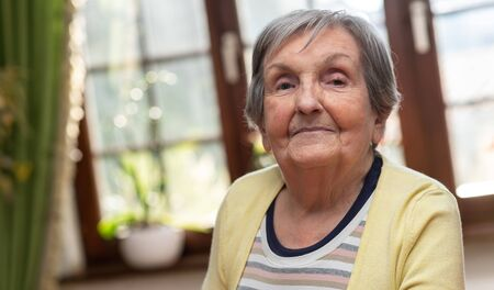 Portrait of an elderly woman Archivio Fotografico - 134808163