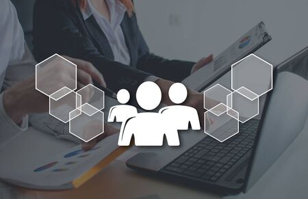 Business partner concept illustrated by a picture on background