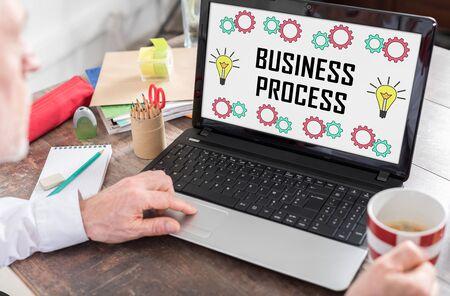 Business process concept shown on a laptop screen Stock fotó