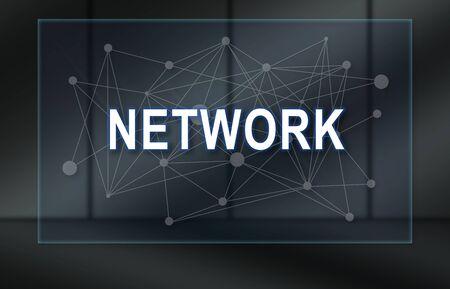 Network concept on dark background