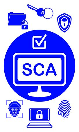Sca concept drawn on a white background