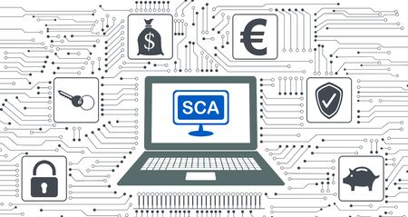 Concept of sca with icons integrated in circuit