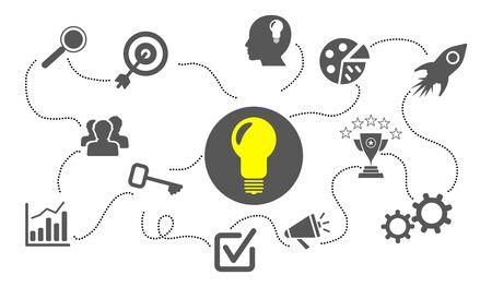 Illustration of a business idea concept