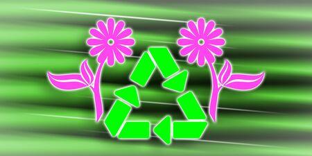 Illustration of a recycling concept Фото со стока