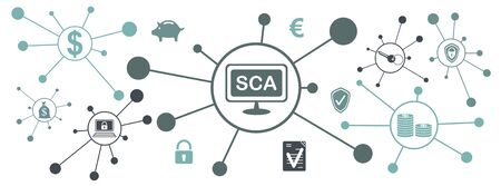 Concept of sca with connected icons