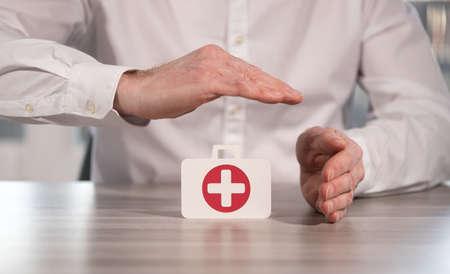 Symbol of health insurance