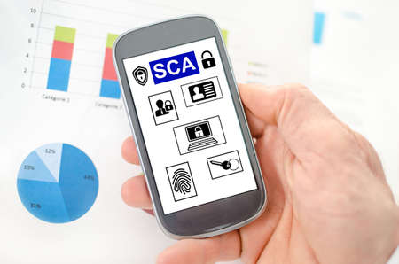 Sca concept on a smartphone held by a hand