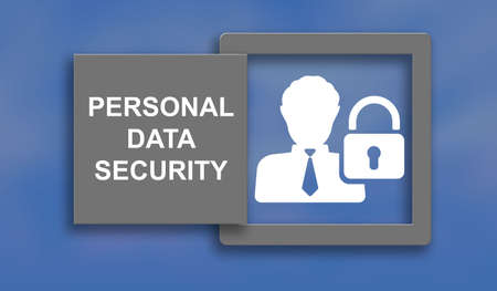 Illustration of a personal data security concept Stock fotó