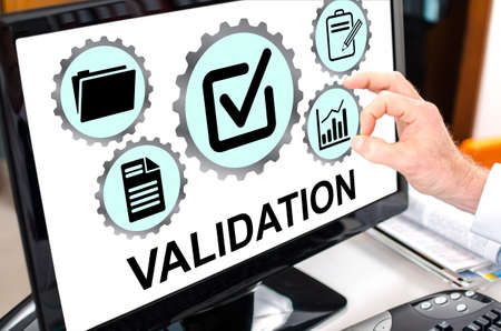 Validation concept shown on a computer screen
