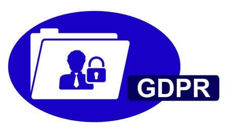 Illustration of a gdpr concept Stockfoto