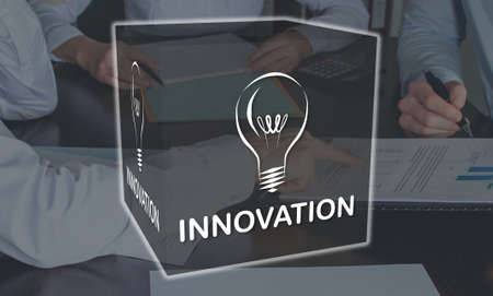 Innovation concept illustrated by a picture on background