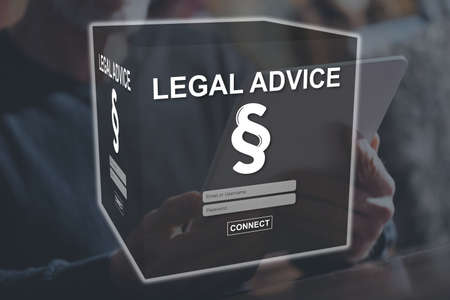 Legal advice concept illustrated by a picture on background