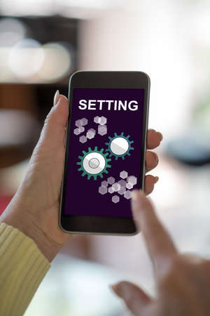 Smartphone screen displaying a setting concept