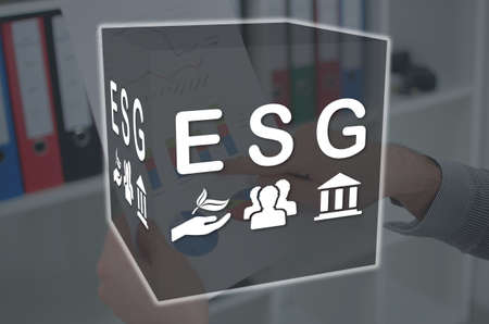 Esg concept illustrated by a picture on background