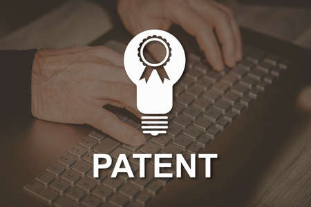 Patent concept illustrated by a picture on background