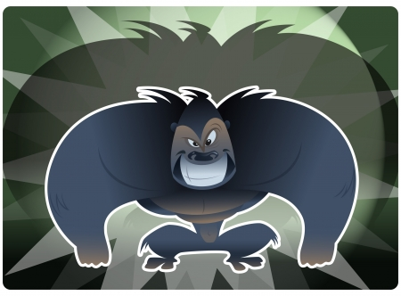 scaring: An envy gorilla smiling Illustration