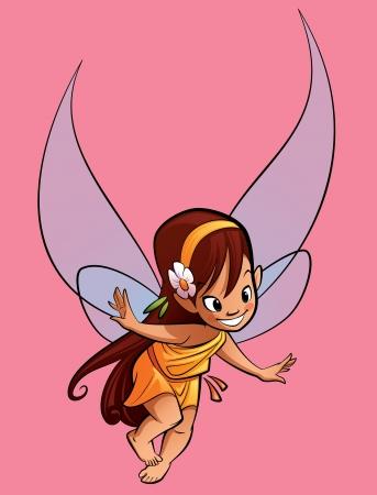no image: A happy tiny fairy flying Stock Photo