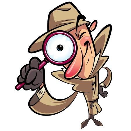 Detective Suche Blick durch große Objektiv Standard-Bild - 21558911