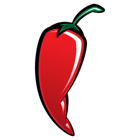 Extremely super hot red chilli paprika pepper Vector