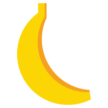 delectable: Design of one vector simple yellow ripe banana isolated in white background Illustration