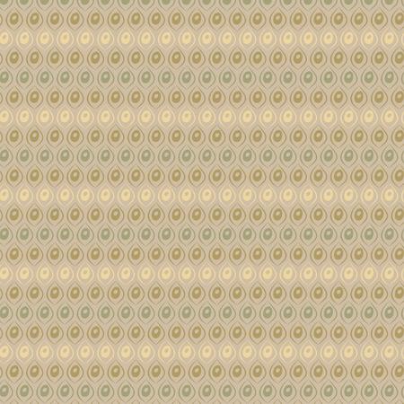 レトロなベクトル図の幾何学的ポップ抽象的なスタイリッシュ デザインの壁紙ベージュ茶色黄色と緑の色を背景画像として