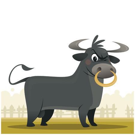 Mad bull icon. Ilustração