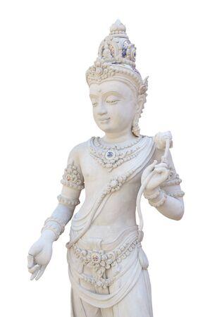 bodhisattva: Bodhisattva isolated on white background