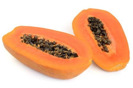Papaya fruit isolated on white background Stock Photo - 13639926