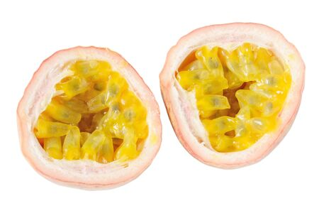 Passion fruits on a white background Stock Photo - 14567925