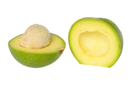 The fresh avocado isolated on white background Stock Photo - 14568074