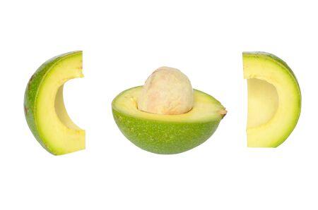 The fresh avocado isolated on white background Stock Photo - 14567926