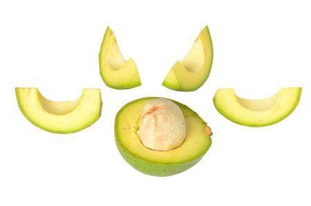 The fresh avocado isolated on white background Stock Photo - 14567924