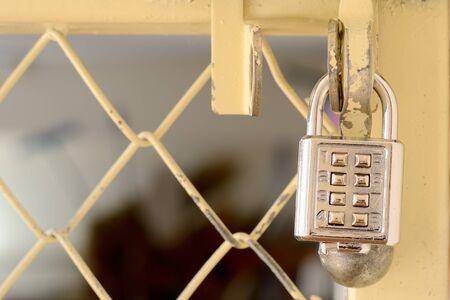 Metal lock and key figures Stock Photo - 15848307