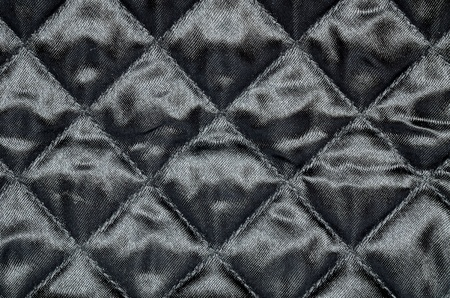Close-up of texture black nylon fabric photo