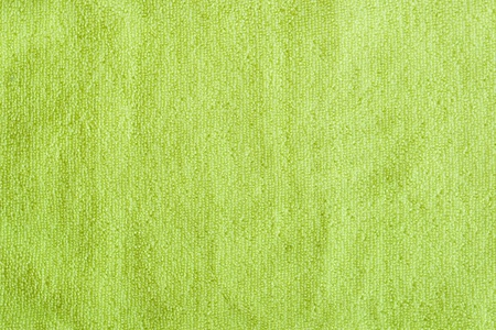 Close up of green polyester fabric