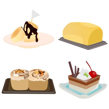 Bakery and dessert vector set Illustration