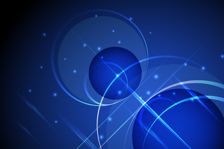 shinning: blue abstract technology background illustration with circle shinning dot and light line