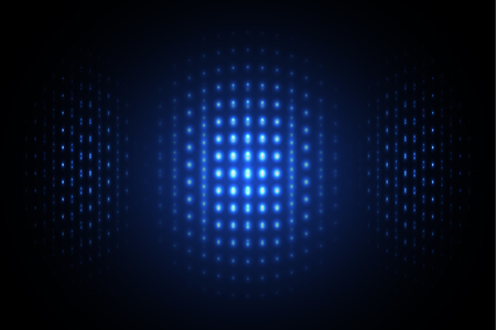 shinning: blue abstract technology background illustration with shinning dot