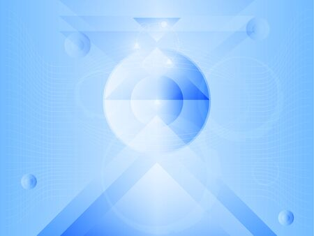shinning light: blue abstract technology background illustration vector Illustration