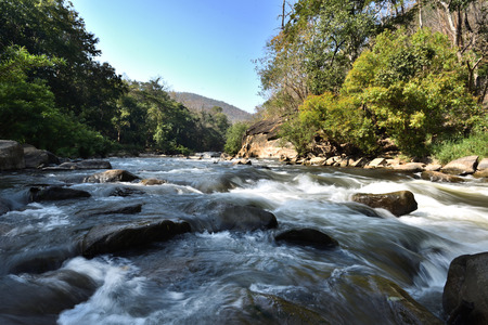 Ob Luang National Park is a place where the river flows through the valley and forest views